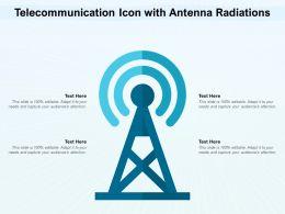 Telecommunication Icon With Antenna Radiations