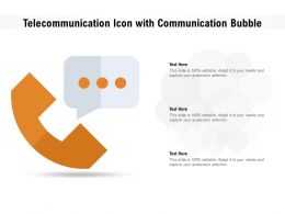 Telecommunication Icon With Communication Bubble