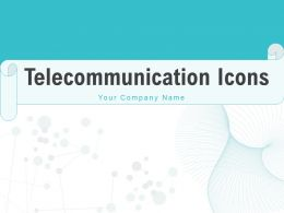 Telecommunication Icons Square Radiations Communication Frequency Connection Circle