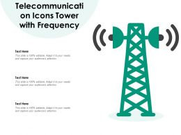 Telecommunication Icons Tower With Frequency
