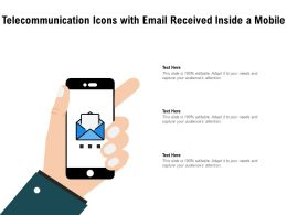 Telecommunication Icons With Email Received Inside A Mobile