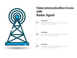 Telecommunication Icons With Radar Signal