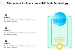 Telecommunication Icons With Robotic Technology