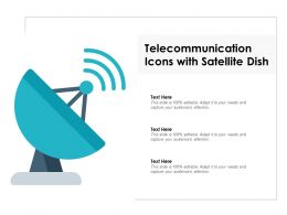 Telecommunication Icons With Satellite Dish