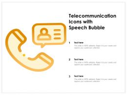 Telecommunication Icons With Speech Bubble