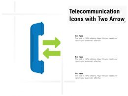 Telecommunication Icons With Two Arrow