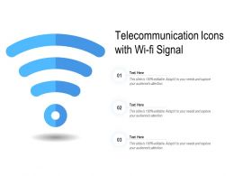 Telecommunication Icons With Wi Fi Signal