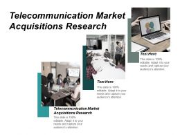 Telecommunication Market Acquisitions Research Ppt Powerpoint Presentation Portfolio Skills Cpb