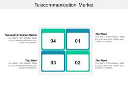 Telecommunication Market Ppt Powerpoint Presentation Gallery Format Ideas Cpb