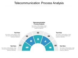 Telecommunication Process Analysis Ppt Powerpoint Presentation Infographic Template Cpb
