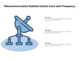 Telecommunication Satellite Centre Icons With Frequency