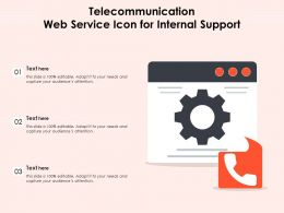 Telecommunication Web Service Icon For Internal Support