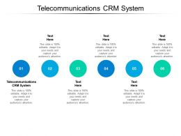 Telecommunications CRM System Ppt Powerpoint Presentation Infographic Template Grid Cpb