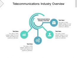 Telecommunications Industry Overview Ppt Powerpoint Presentation Portfolio Templates Cpb