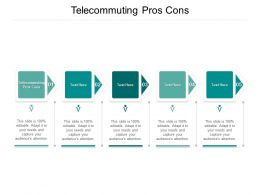 Telecommuting Pros Cons Ppt Powerpoint Presentation Slides Vector Cpb
