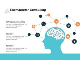 Telemarketer Consulting Ppt Powerpoint Presentation Gallery Samples Cpb