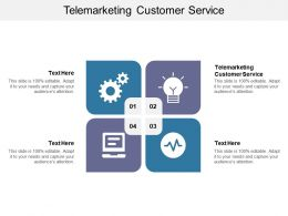 Telemarketing Customer Service Ppt Powerpoint Presentation Outline Design Templates Cpb