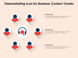 Telemarketing Icon For Business Contact Center
