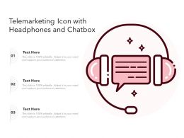 Telemarketing Icon With Headphones And Chatbox