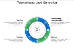 Telemarketing Lead Generation Ppt Powerpoint Presentation Visual Aids Backgrounds Cpb