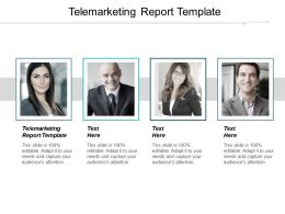 Telemarketing Report Template Ppt Powerpoint Presentation Pictures Format Cpb