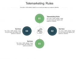 Telemarketing Rules Ppt Powerpoint Presentation Layouts Inspiration Cpb