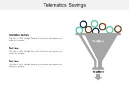 Telematics Savings Ppt Powerpoint Presentation Infographics Sample Cpb
