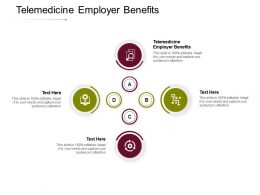 Telemedicine Employer Benefits Ppt Powerpoint Presentation Ideas Graphics Cpb
