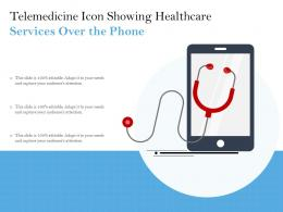Telemedicine Icon Showing Healthcare Services Over The Phone