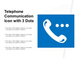 Telephone Communication Icon With 3 Dots
