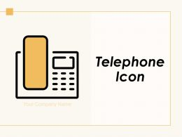 Telephone Icon Customer Support Smart Speech Bubble Video Conferencing