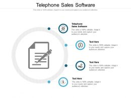 Telephone Sales Software Ppt Powerpoint Presentation Styles Structure Cpb