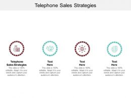 Telephone Sales Strategies Ppt Powerpoint Presentation Layouts Graphics Cpb
