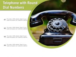 Telephone With Round Dial Numbers