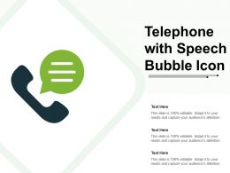 Telephone With Speech Bubble Icon