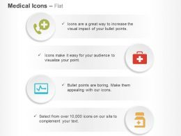 telephonic_medical_help_first_aid_bag_ecg_medicine_ppt_icons_graphics_Slide01