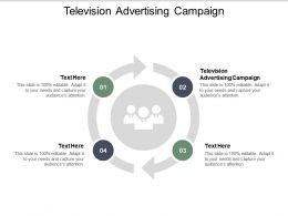 Television Advertising Campaign Ppt Powerpoint Presentation Show Graphics Cpb