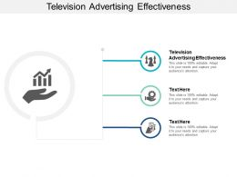 Television Advertising Effectiveness Ppt Powerpoint Presentation Gallery Example Introduction Cpb