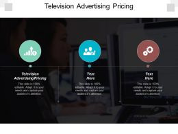Television Advertising Pricing Ppt Powerpoint Presentation Gallery Smartart Cpb