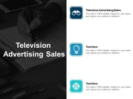 Television Advertising Sales Ppt Powerpoint Presentation Gallery Microsoft Cpb