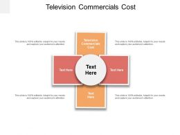 Television Commercials Cost Ppt Powerpoint Presentation Model Format Cpb
