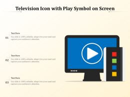 Television Icon With Play Symbol On Screen