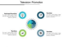 Television Promotion Ppt Powerpoint Presentation Icon Graphic Tips Cpb