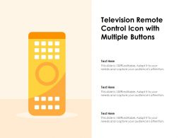 Television Remote Control Icon With Multiple Buttons