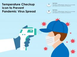 Temperature Checkup Icon To Prevent Pandemic Virus Spread