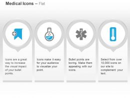 Temperature Checkup Medical Record Symbol Flask Ppt Icons Graphics