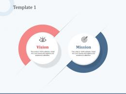 Template 1 Vision Mission And Values Ppt Powerpoint Presentation Summary