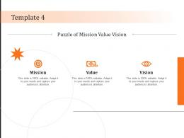 Template 4 Vision Mission And Value Statement Ppt Powerpoint Presentation Styles Infographic