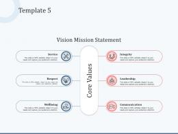 Template 5 Vision Mission And Values Ppt Powerpoint Presentation Icon Aids