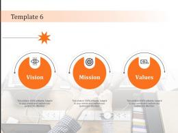 Template 6 Vision Mission And Value Statement Ppt Powerpoint Presentation Model Design